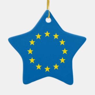Ornamento De Cerâmica A UE embandeira (a decoração da estrela do Natal