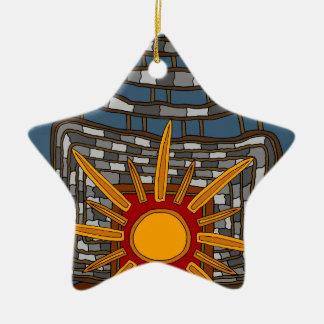 Ornamento De Cerâmica A última casa de tesouro