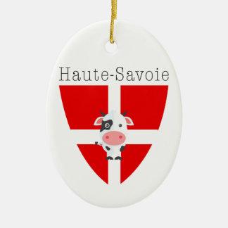 Ornamento De Cerâmica A vaca de Haute-Sabóia Dble-Tomou partido