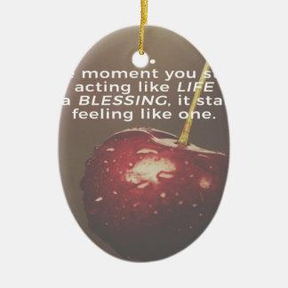 Ornamento De Cerâmica A vida é uma bênção
