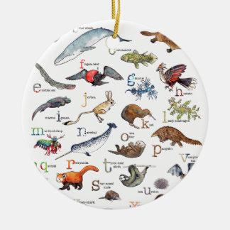Ornamento De Cerâmica A-Z de animais surpreendentes