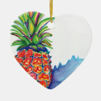 Ornamento De Cerâmica Abacaxi tropical
