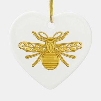 Ornamento De Cerâmica abelha real, imitação do bordado