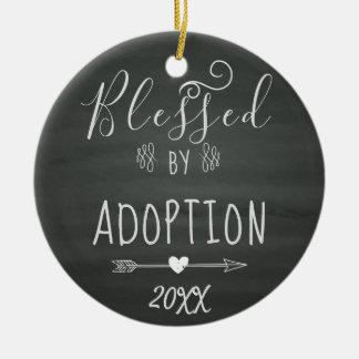 Ornamento De Cerâmica Abençoado pela adopção - a assistência social,