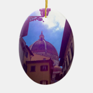 Ornamento De Cerâmica Abóbada de Brunelleschi em Florença, Italia
