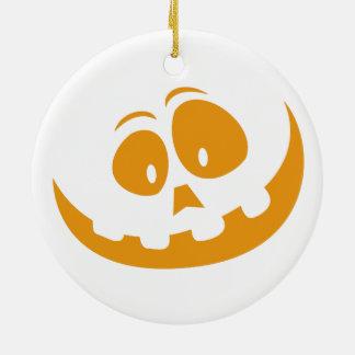Ornamento De Cerâmica Abóbora do Dia das Bruxas da lanterna de O de Jack
