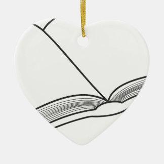 Ornamento De Cerâmica Abra o livro