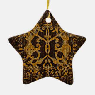Ornamento De Cerâmica Abrigo abstrato & ilustrado