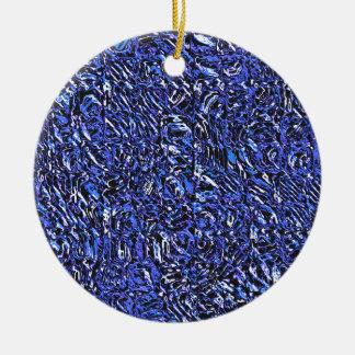 Ornamento De Cerâmica Abstrato azul do vidro