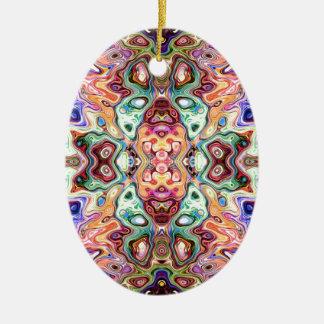 Ornamento De Cerâmica Abstrato colorido da imagem invertida