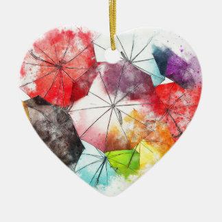 Ornamento De Cerâmica Abstrato colorido dos guarda-chuvas