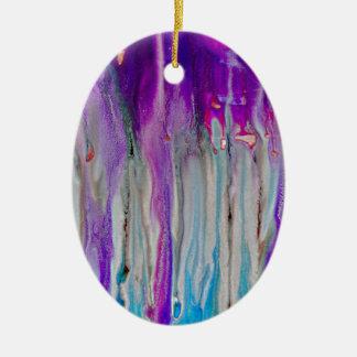 Ornamento De Cerâmica Abstrato da cachoeira