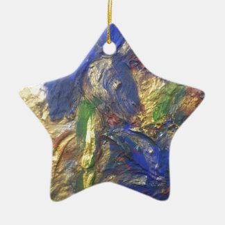 Ornamento De Cerâmica Abstrato da íris