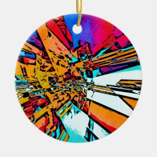 Ornamento De Cerâmica Abstrato do pop art