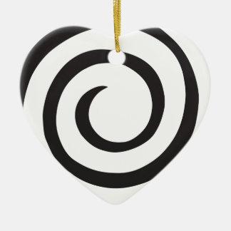 Ornamento De Cerâmica Abstrato espiral