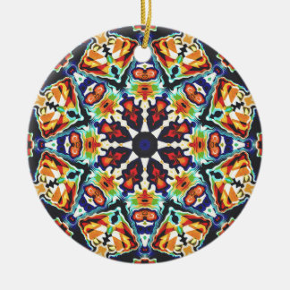 Ornamento De Cerâmica Abstrato geométrico colorido