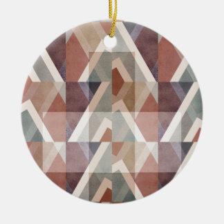 Ornamento De Cerâmica Abstrato geométrico Textured