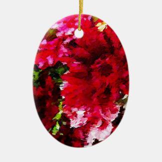 Ornamento De Cerâmica Abstrato vermelho da margarida do Gerbera