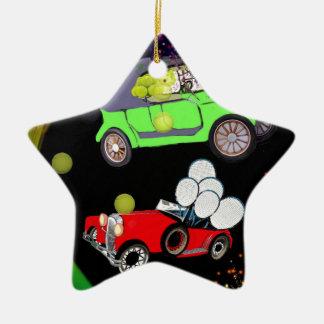 Ornamento De Cerâmica Abundância velha do carro da forma de bolas de