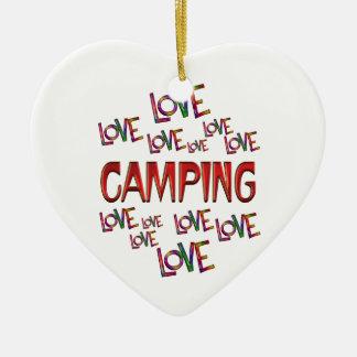 Ornamento De Cerâmica Acampamento do amor do amor
