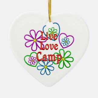 Ornamento De Cerâmica Acampamento vivo do amor