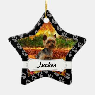 Ornamento De Cerâmica Acção de graças da queda - Tucker - Yorkie