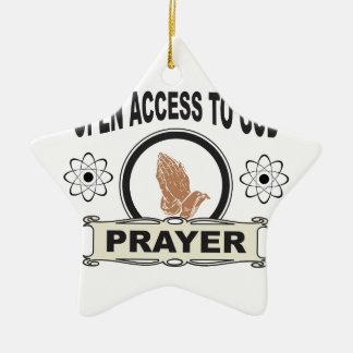 Ornamento De Cerâmica acesso aberto ao deus