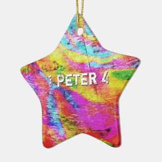 Ornamento De Cerâmica Acima de 1 Peter 4