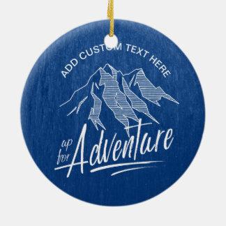 Ornamento De Cerâmica Acima para das montanhas ID358 branco da aventura
