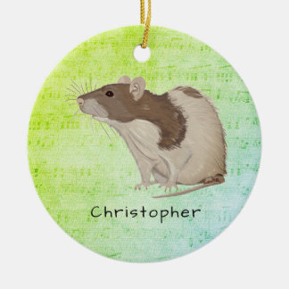 Ornamento De Cerâmica Adicione seu design conhecido do rato