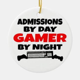 Ornamento De Cerâmica Admissões pelo Gamer do dia em a noite