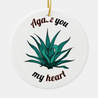 Ornamento De Cerâmica agave você meu coração
