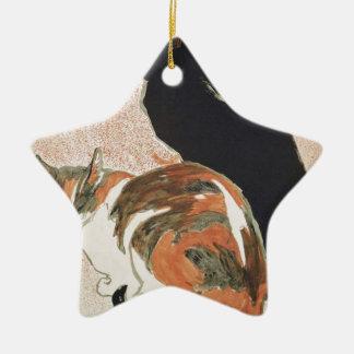 Ornamento De Cerâmica Aguarela - 2 gatos - Théophile Alexandre Steinlen