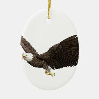 Ornamento De Cerâmica Águia americana crescente