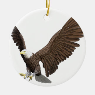 Ornamento De Cerâmica Águia americana que entra para uma aterragem