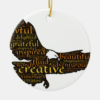 Ornamento De Cerâmica Águia criativa