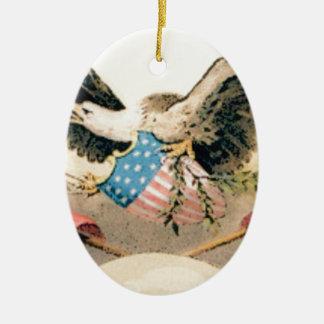 Ornamento De Cerâmica águia e selo das bandeiras