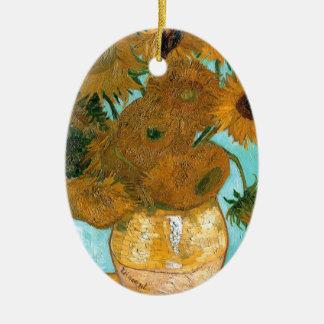 Ornamento De Cerâmica Ainda vida: Girassóis - Vincent van Gogh