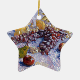 Ornamento De Cerâmica Ainda vida: Maçãs, peras, uvas - Van Gogh