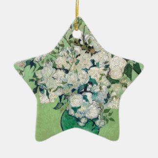 Ornamento De Cerâmica Ainda vida: Vaso com rosas - Vincent van Gogh