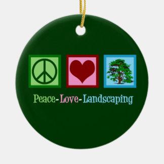 Ornamento De Cerâmica Ajardinar do amor da paz
