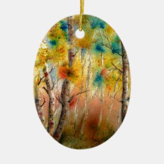 Ornamento De Cerâmica Álamos tremedores na queda