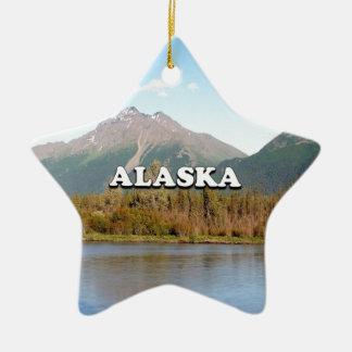 Ornamento De Cerâmica Alaska: montanhas, floresta e rio, EUA