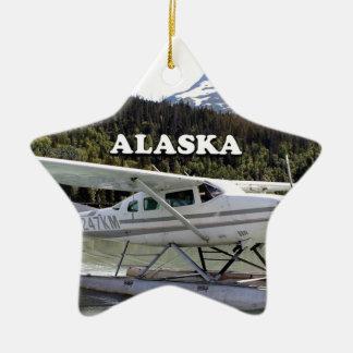 Ornamento De Cerâmica Alaska: Plano do flutuador, lago 3 trail