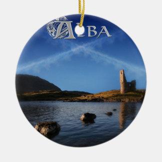 Ornamento De Cerâmica Alba, Scotland, Caledonia