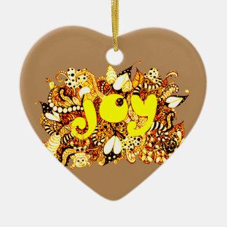 Ornamento De Cerâmica Alegria 2