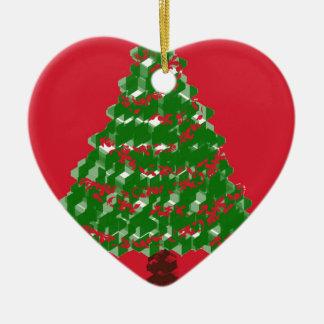 Ornamento De Cerâmica Alegria da árvore de Cristmas
