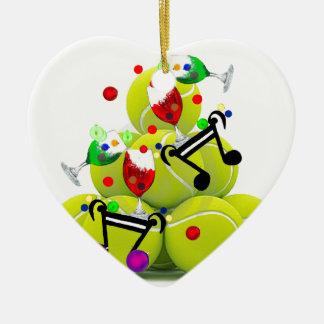 Ornamento De Cerâmica Alegria da música das bolas