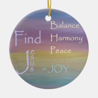 Ornamento De Cerâmica ALEGRIA da paz da harmonia do equilíbrio…