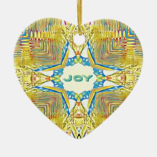 """Ornamento De Cerâmica """"ALEGRIA inspirada festiva vibrante"""" rara"""